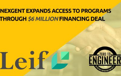 NexGenT expands access to its Zero To EngineerTM programs with a $6 million financing deal with Leif