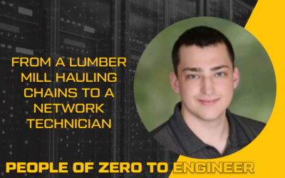 From a lumber mill hauling chains to a Network Technician | Jacob Stephens